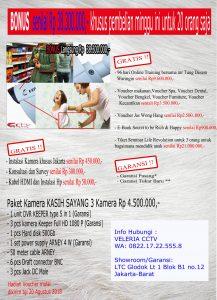 Paket Bonus Rp38.300.000,- untuk 20 orang, Paket Bonus, Paket Bonus, Paket cctv